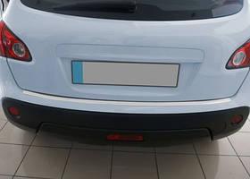 Nissan Qashqai 2010-2014 рр. Накладки на задній бампер OmsaLine (нерж.) Глянець, -20212 довга база