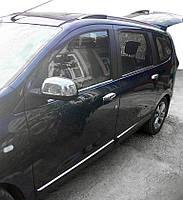 Dacia Lodgy 2013↗ рр. Накладки на дзеркала (2 шт., нерж.) Carmos - Турецька сталь