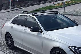 Mercedes C-Klass W205 Перемичка в штатні місця (2 шт, під ключ) Сірий