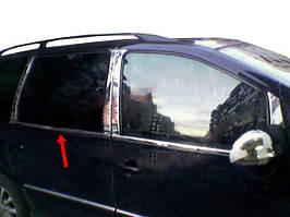 Окантовка вікон (4 шт, нерж) OmsaLine - Італійська нержавійка Volkswagen Sharan 1995-2010 рр.