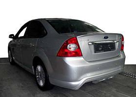 Ford Focus II 2005-2008 гг. Накладка на задний бампер Sedan (под покраску)