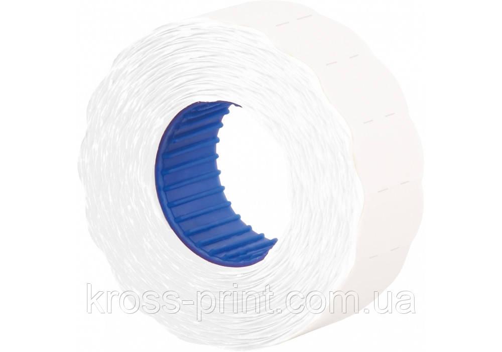 Етикетки-цінники фігурн 22х12 мм Economix, 1000 шт/рул., білі
