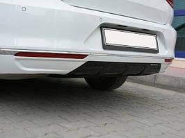 Задний диффузор (под покраску) Volkswagen Passat B8 2015↗ гг.