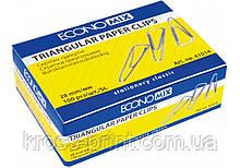 Скрепки треугольные Economix; 28 мм / 100 шт