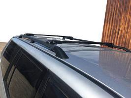 Mitsubishi Pajero Sport 1996-2007 рр. Перемички на рейлінги під ключ (2 шт) Чорний