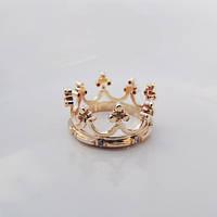 """Обручальное кольцо """"Золотая Корона"""" с цирконом от WickerRing"""