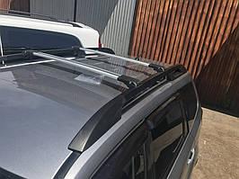 Subaru Forester 2008-2013 гг. Перемычки на рейлинги под ключ (2 шт) Черный