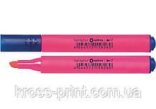 Маркер текстовыделитель триугольный OPTIMA 2-4 мм, розовый
