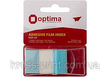 Стикеры-закладки Optima, 45х25, синие, 50 шт.