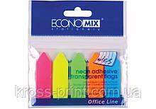 """Стикеры-закладки """"Стрелки"""" Economix, 12х45, пластиковые"""