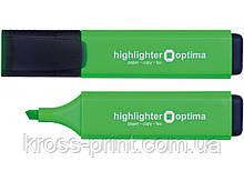 Маркер текстовыделитель OPTIMA 1-4 мм, зеленый