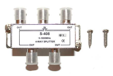 Разветвитель на 4 телевизора S-408, фото 2