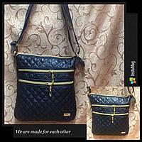 Клатч женский Сумка стеганная  черный+Золотой/Женские сумка/сумка стеганная/Сумка для через плечо(только ОПТ), фото 1