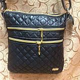 Клатч женский Сумка стеганная  черный+Золотой/Женские сумка/сумка стеганная/Сумка для через плечо(только ОПТ), фото 2