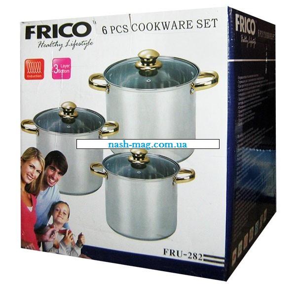 Набор кастрюль Frico FRU-282, 6 предметов 7,2 / 9 / 11,2 л.