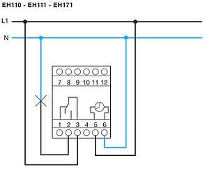 Таймер аналоговый, суточный,16А, 1перекл. контакт, без резерва хода, 3м (Hager), Франция, фото 2