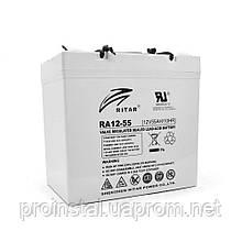 Аккумуляторная свинцово-кислотная батарея AGM RITAR RA12-55 Gray Case 12V 55.0Ah Q1