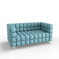 Двухместный диван KULIK SYSTEM NEXUS Экокожа 2 Синий hubHSGt68462, КОД: 1762493