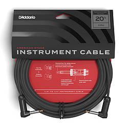 Инструментальный кабель D`Addario PW-AMSGRR-20 American Stage, Right-to-Right (6m)