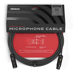 Мікрофонний кабель d'addario PW-AMSM-10 American Stage Microphone Cable (3m)