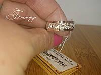 Серебряное кольцо с накладками золота без камней, фото 1