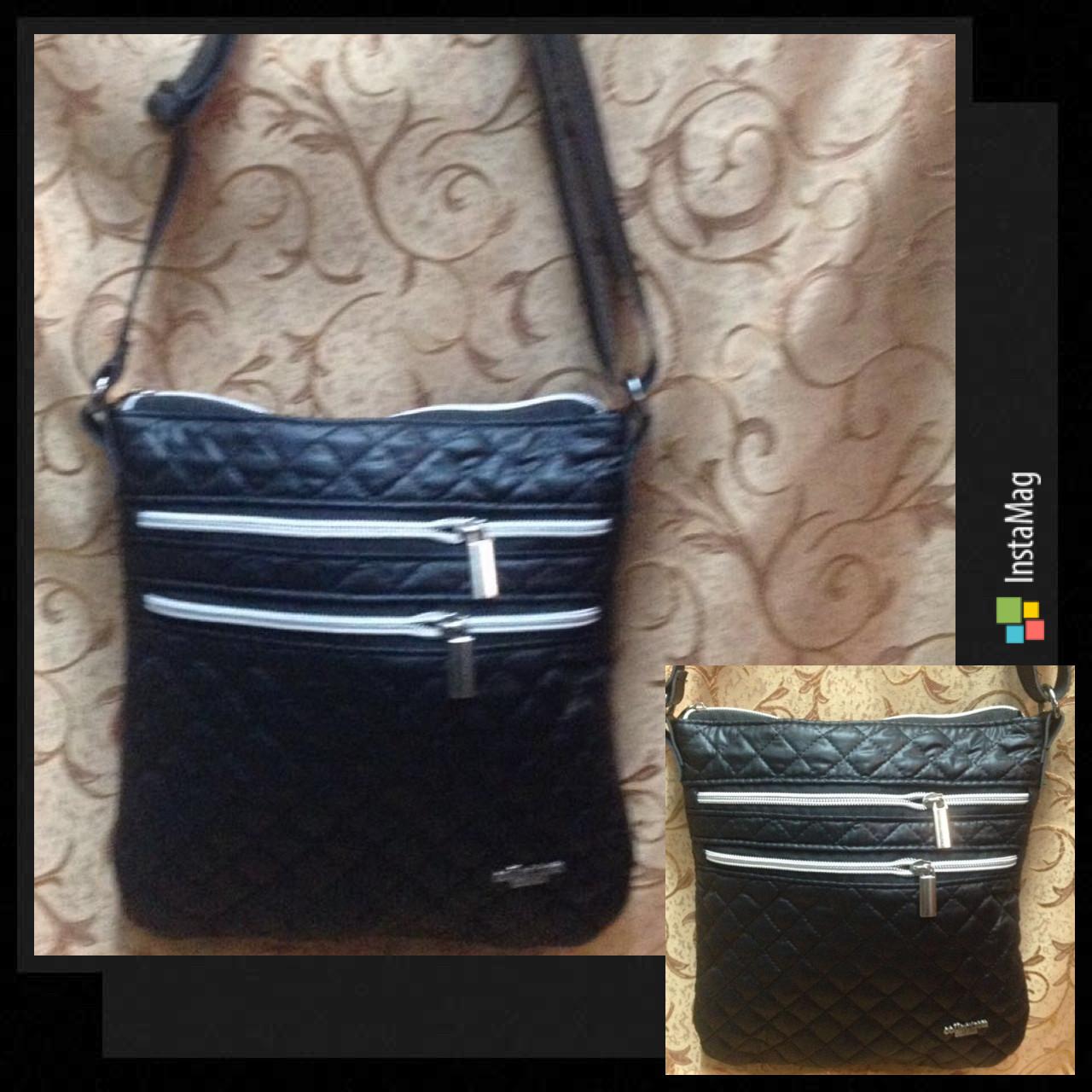 Клатч женский Сумка стеганная  черный+Серебро/Женские сумка/сумка стеганная/Сумка для через плечо(только ОПТ)