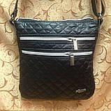 Клатч женский Сумка стеганная  черный+Серебро/Женские сумка/сумка стеганная/Сумка для через плечо(только ОПТ), фото 2