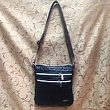 Клатч женский Сумка стеганная  черный+Серебро/Женские сумка/сумка стеганная/Сумка для через плечо(только ОПТ), фото 3