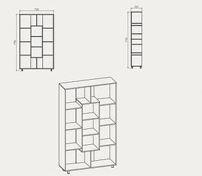 "Книжкова шафа (етажерка ) - ""КШ-4"" Компаніт, фото 2"