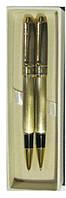 Набор RF-323 Sonata 2ручки 1 роллер +1чернил. золото в фуляре