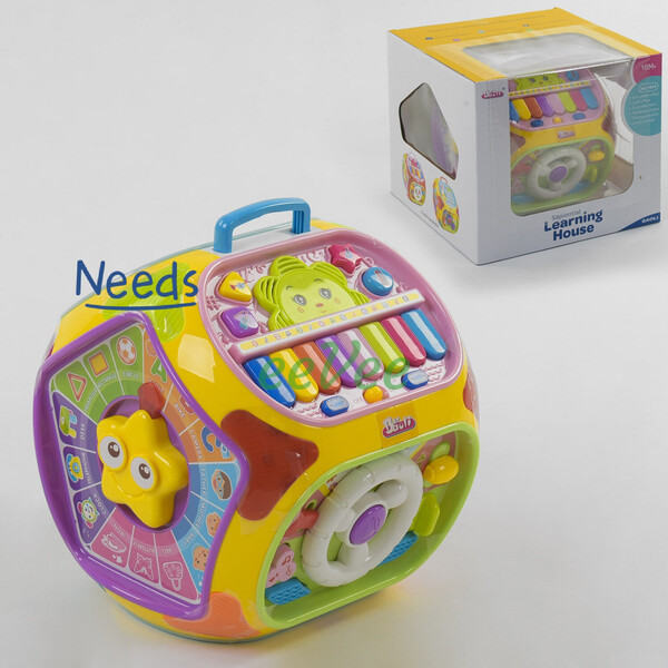 Развивающая логическая игрушка Baoli 805 Музыкальный куб с подсветкой