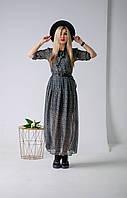 """Молодежное платье шифон """"316"""" Размеры двойные 42-44,50-52."""