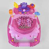 Ходунки детские для девочки 6-18 месяцев JOY с музыкальной панелью Розовые, фото 3
