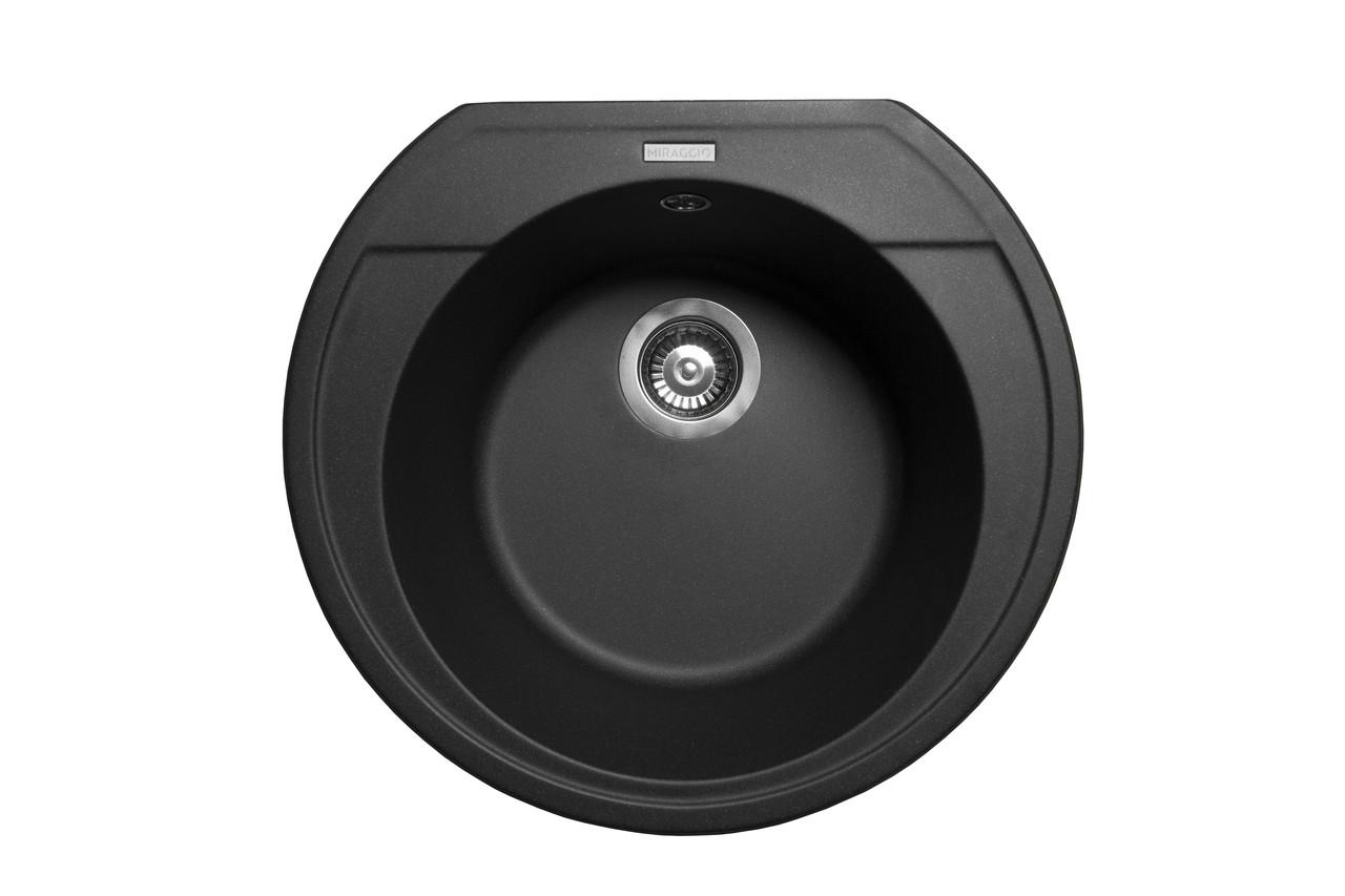 Кухонна мийка гранітна MIRAGGIO TULUZA black