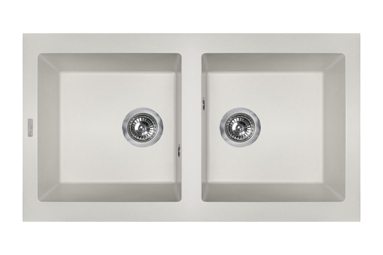 Кухонна мийка гранітна MIRAGGIO WESTEROS white