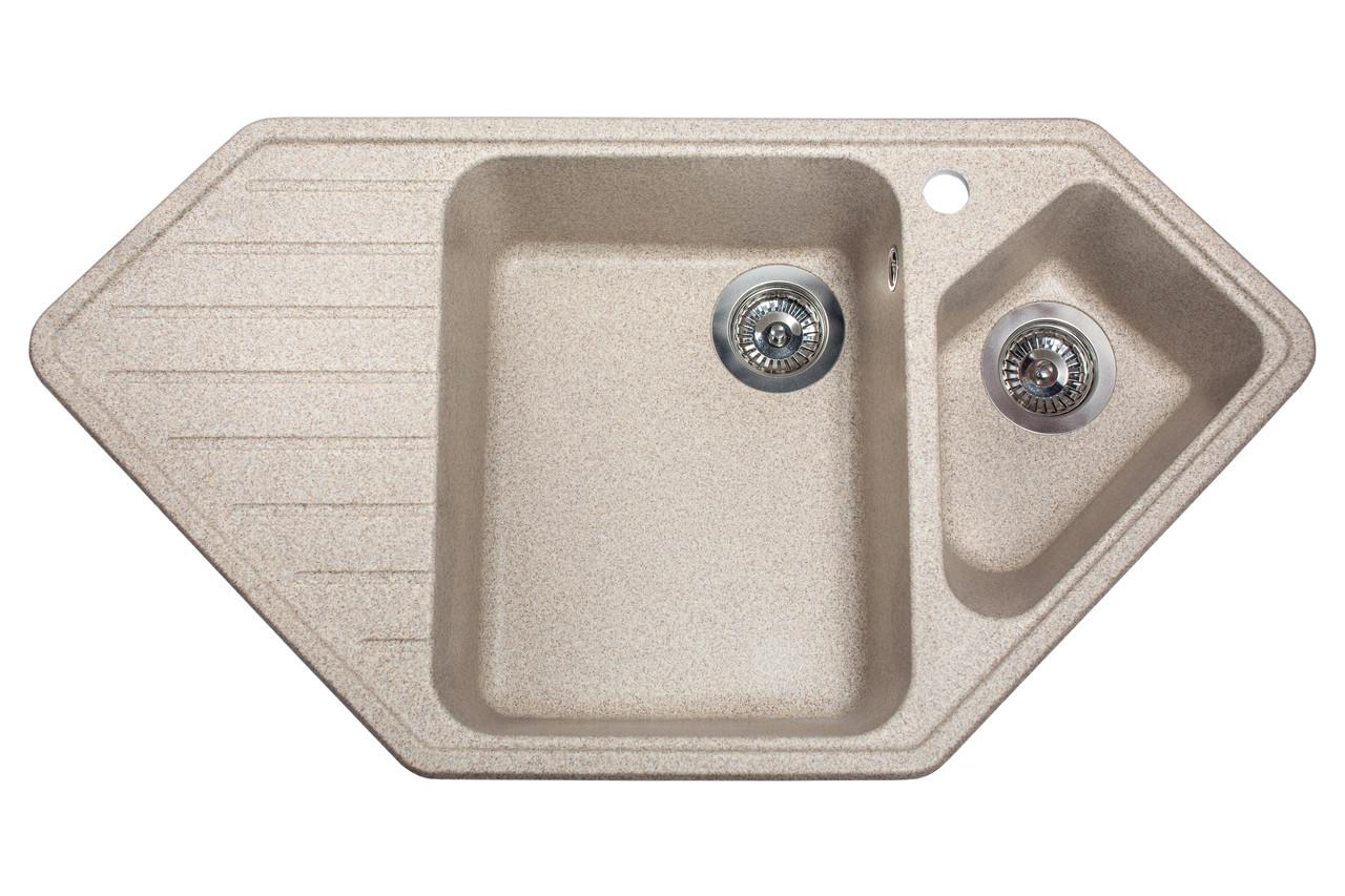 Кухонна мийка гранітна MIRAGGIO TIRRION terra