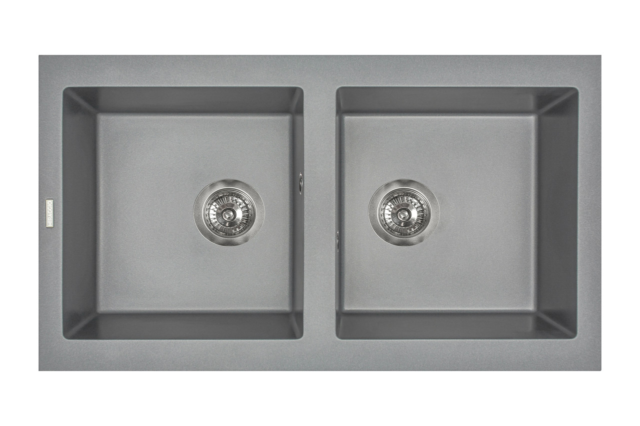 Кухонна мийка гранітна MIRAGGIO WESTEROS gray