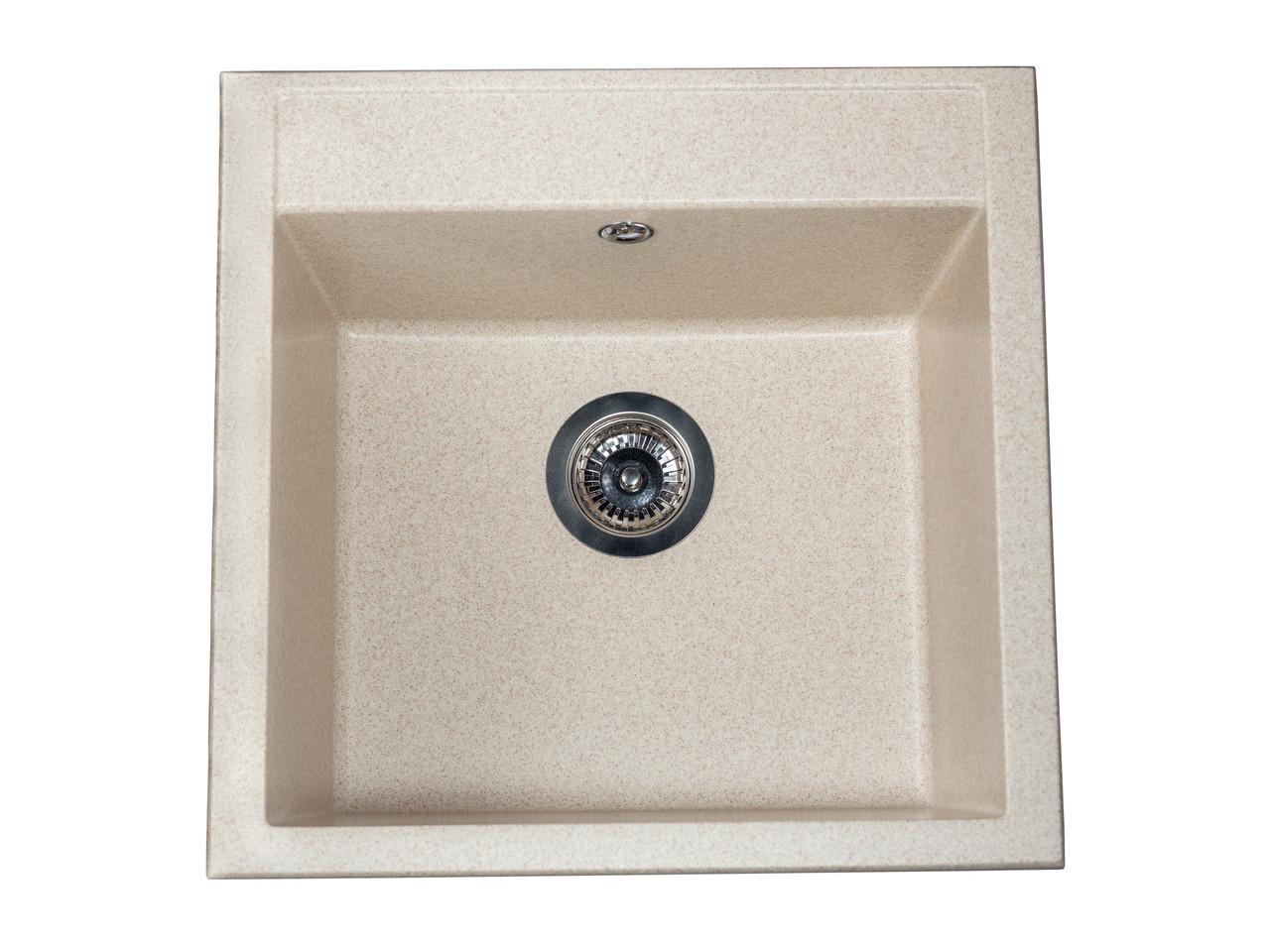 Кухонна мийка гранітна MIRAGGIO BODRUM 510 sand