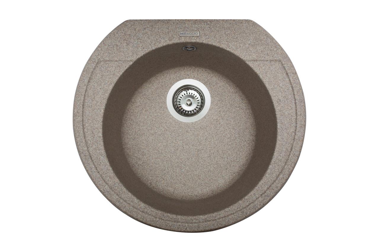 Кухонна мийка гранітна MIRAGGIO TULUZA terra
