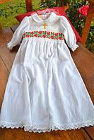 Крестильное платье для девочки с вышитым украинским орнаментом, №15