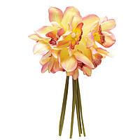 Искусственный цветок мини-орхидея, 30 см, розовый, ткань, пластик (631307)