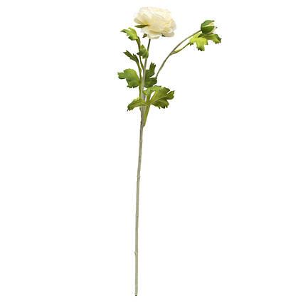 Искусственный цветок Лютик, 59 см, белый, пластик, ткань (632380)
