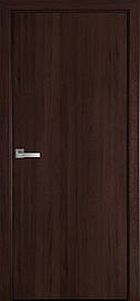 Двері міжкімнатні СТАНДАРТ глухі ПВХ DeLuxe, Каштан, 600