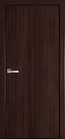 Двері міжкімнатні СТАНДАРТ глухі ПВХ DeLuxe, Каштан, 900