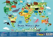 """Килимок для дитячої творчості """"Animal world's Map"""""""