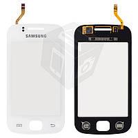 Touchscreen (сенсорный экран) для Samsung Galaxy Gio S5660, белый, оригинал