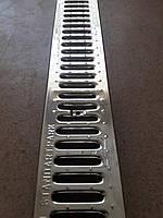 Защитная водоприемная решетка 1000*136*3 мм.  (штампованная нержавеющая сталь)