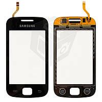 Touchscreen (сенсорный экран) для Samsung Galaxy Gio S5660, черный, оригинал