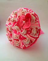 Букет из конфет Raffaello оригинальный сладкий букет розовый Орхидея подарок для девушки