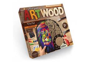 Набір для випилювання лобзиком Art Wood Годинник 01 Danko Toys